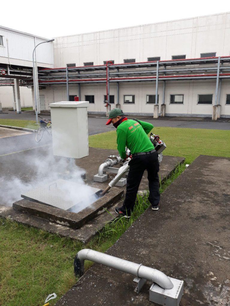 Xông khói hệ thống cống rãnh